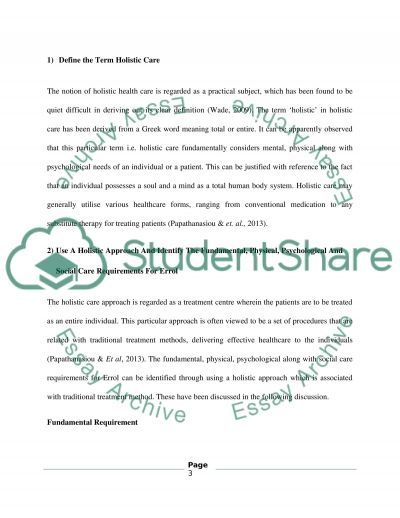 Identifying and meeting the fundemental care needs of individuals with the contemporary healthcare enviroment. Essay example