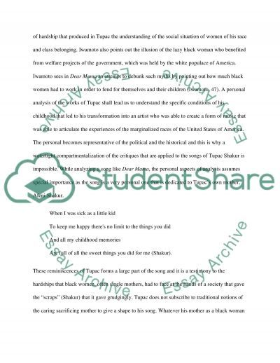 Tupac research paper