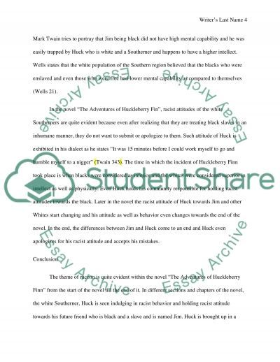 racism theme in the adventures of huckleberry finn essay racism theme in the adventures of huckleberry finn essay example text preview