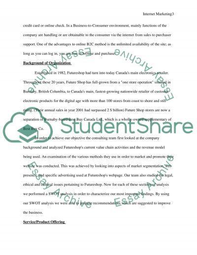Internet Marketing Case Study essay example