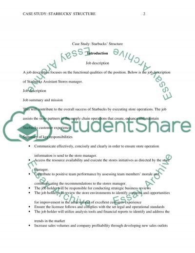 Starbucks' Structure Essay Example | Topics and Well Written Essays ...