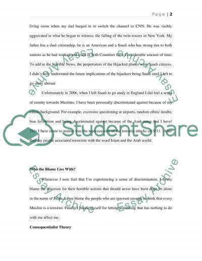 Blame essay example
