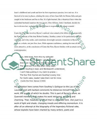 Poems essay example
