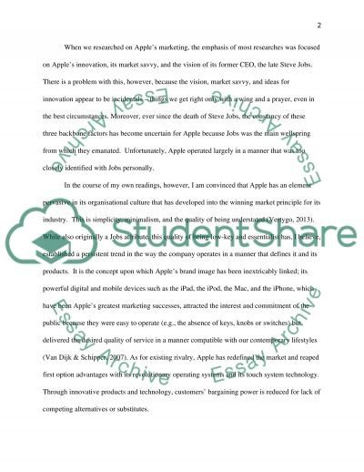 Reflect and evaluate Apples marketing principles & practices essay example