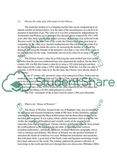 History of Mathematics High School Essay