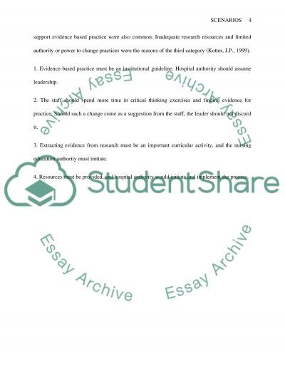 Nursing Leading Change in Practice and Alterations in Child Health essay example