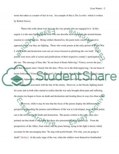 world war poetry essay example topics and well written essays world war 1 poetry essay example