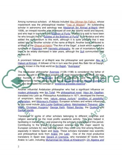 Intellectual Property of Islamic Civilization in Andalusia essay example