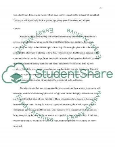 Diversity paper essay example