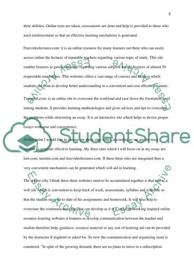Technology review essay example
