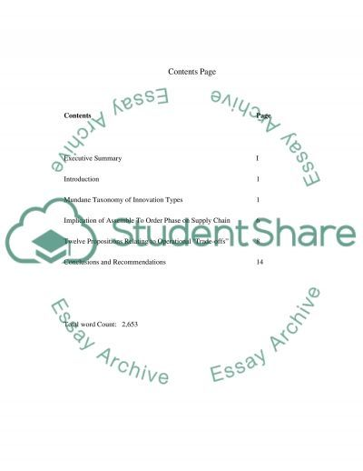 Operational Management Contexts essay example
