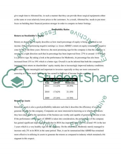 Financial Analysis of Abiomed Incorporation essay example