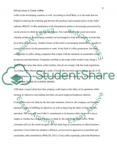 Costa Coffee Essay Sample