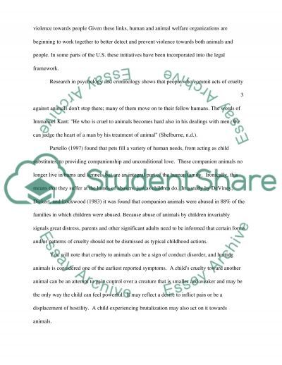 The Relationship between Animal Abuse and Human Abuse essay example