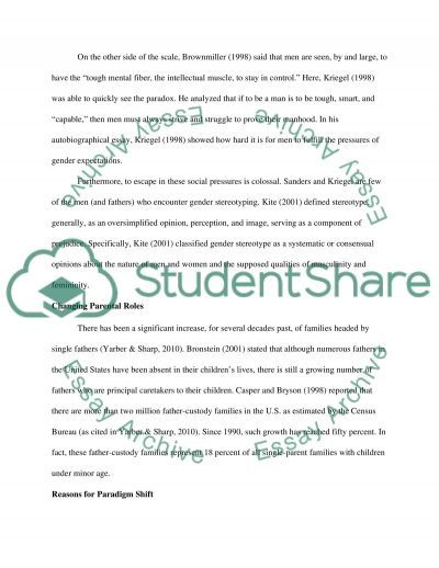 Single Fathers Raising Daughters essay example