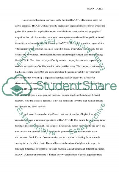 In what way is Capacity (supply) Constrained essay example