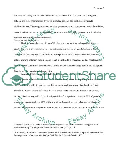Proposal Essay Outline Biodiversity Conservation Example Proposal Essay also Science Essay Topic Biodiversity Conservation Research Paper Example  Topics And Well  English Essay Short Story