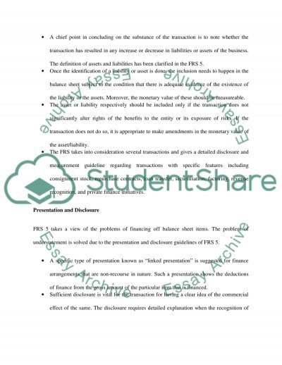 Financial Reporting College Essay essay example
