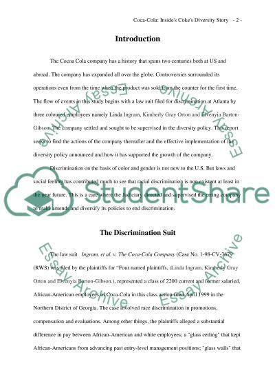 Insides Cokes Diversity Story essay example