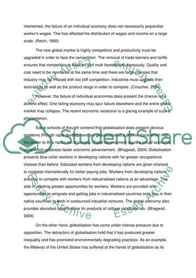 Internationization Of Economies Essay