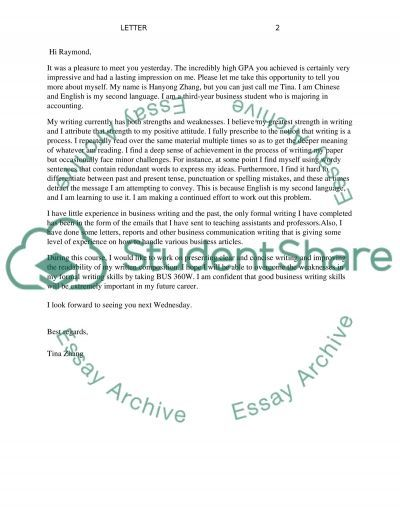 LETTER essay example