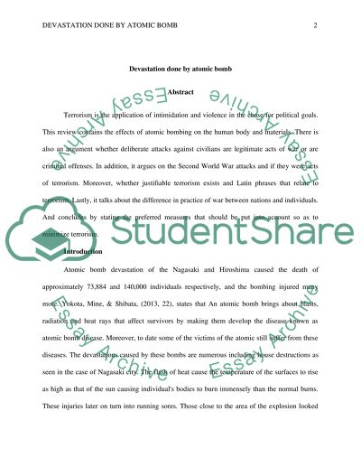 The Yellow Wallpaper Essays Devastation Done By Atomic Bomb  Essay Example Good Essay Topics For High School also Narrative Essay Thesis Devastation Done By Atomic Bomb Essay Example  Topics And Well  English Essays For Students
