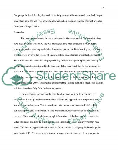 Exploring Learning essay example