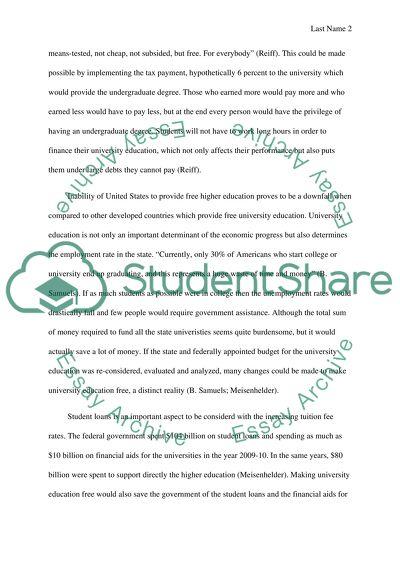 University education should be free