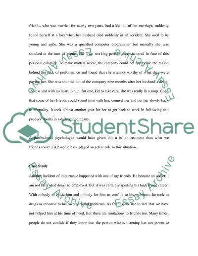 Employee Assistance Program essay example