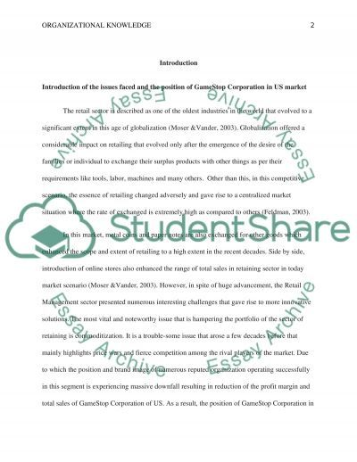 Organizational Knowledge essay example