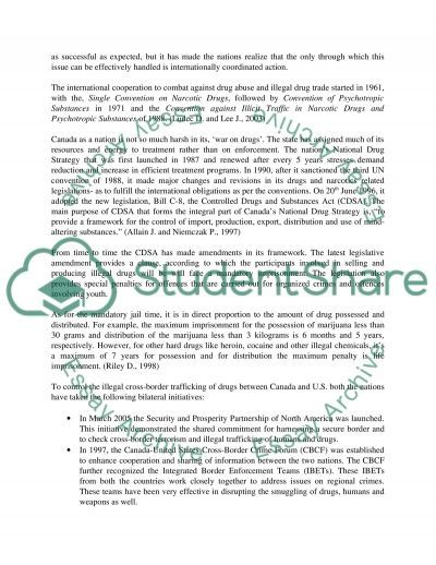 Trafficking in Illegal Drugs and Persons essay example