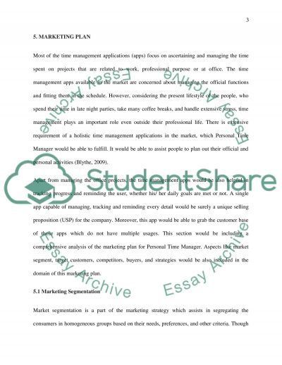 Marketing Plan for a Mobile Application Business Plan essay example