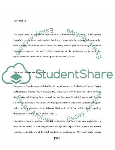 Georgetown Cupcake essay example