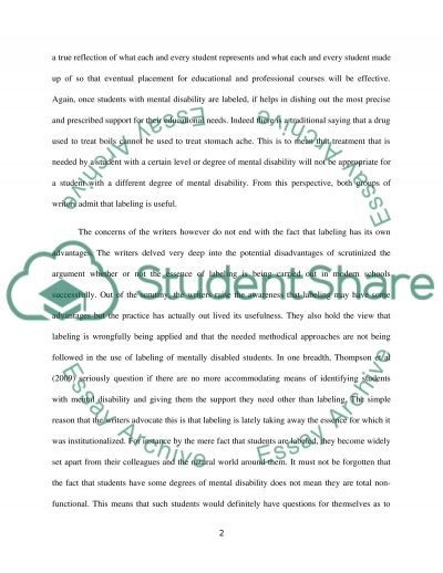 Essay on Intellectual Disability essay example
