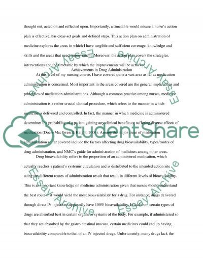 Action Plan Development for Administration of Medicine essay example