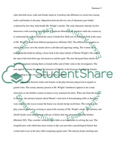 Write My Essay Paper Drama Trifles By Susan Glaspell Business Argumentative Essay Topics also Population Essay In English Drama Trifles By Susan Glaspell Essay Example  Topics And Well  Research Paper Essay