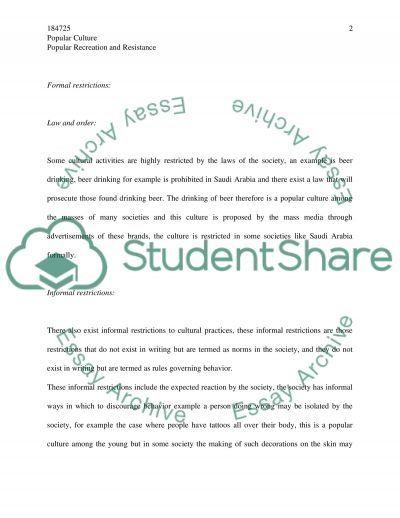 Popular Culture College Essay