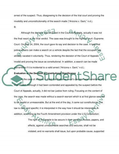 search and seizure essay
