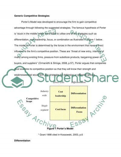 Strategic marketing planning as an Essential Marketing Tool essay example