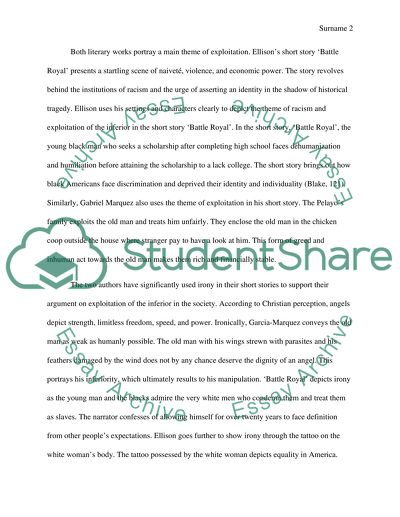 Essay About Science Battle Royal And A Very Old Man With Enormous Wings Argument Essay Paper Outline also Essays Examples English Battle Royal And A Very Old Man With Enormous Wings Essay Argumentative Essay Examples For High School