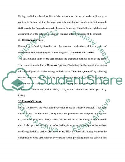 STOCK MARKET EFFICIENCY essay example
