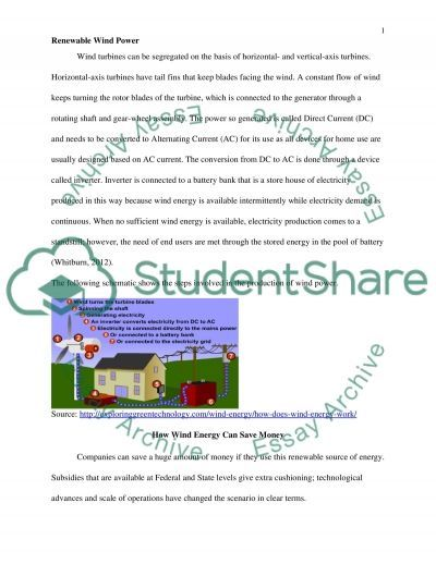 Renewable Wind Power essay example