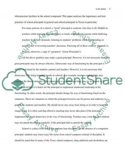 Best Practices for School Principals