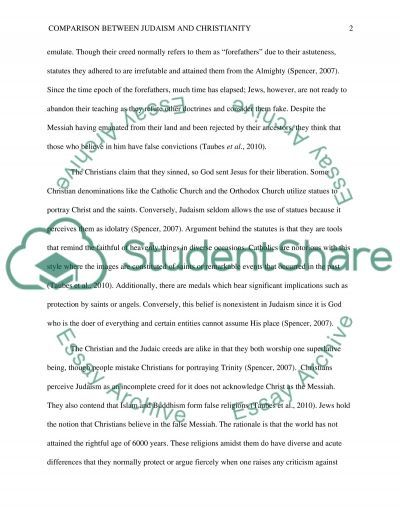Compare and contrast Judaism and Christianity essay example