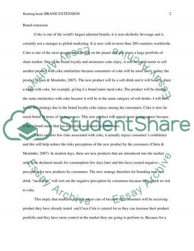 Brand Extension Essay example