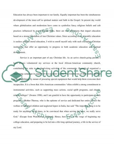 In the Service of My Lord Essay example