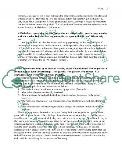 aging and adulthood 2 essay