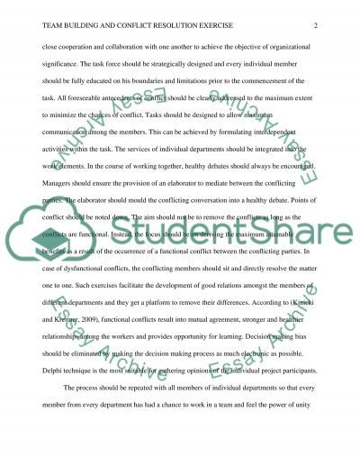 Team Building essay example