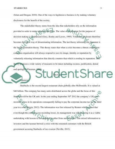 Case study of (Starbucks has not paid The UK corporation tax 2012) essay example