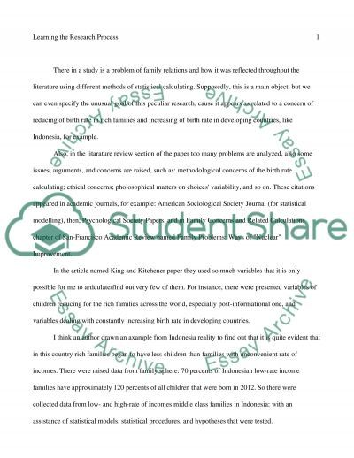 Learning the Research Process essay example